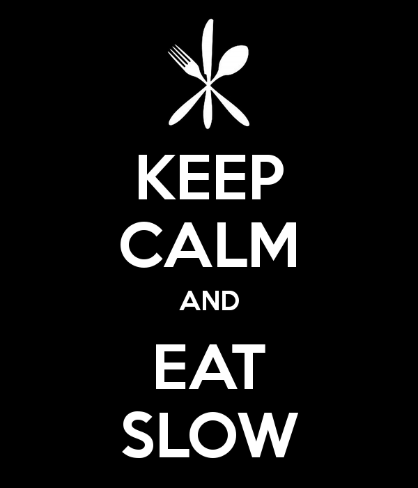 Eat slow and lose weight