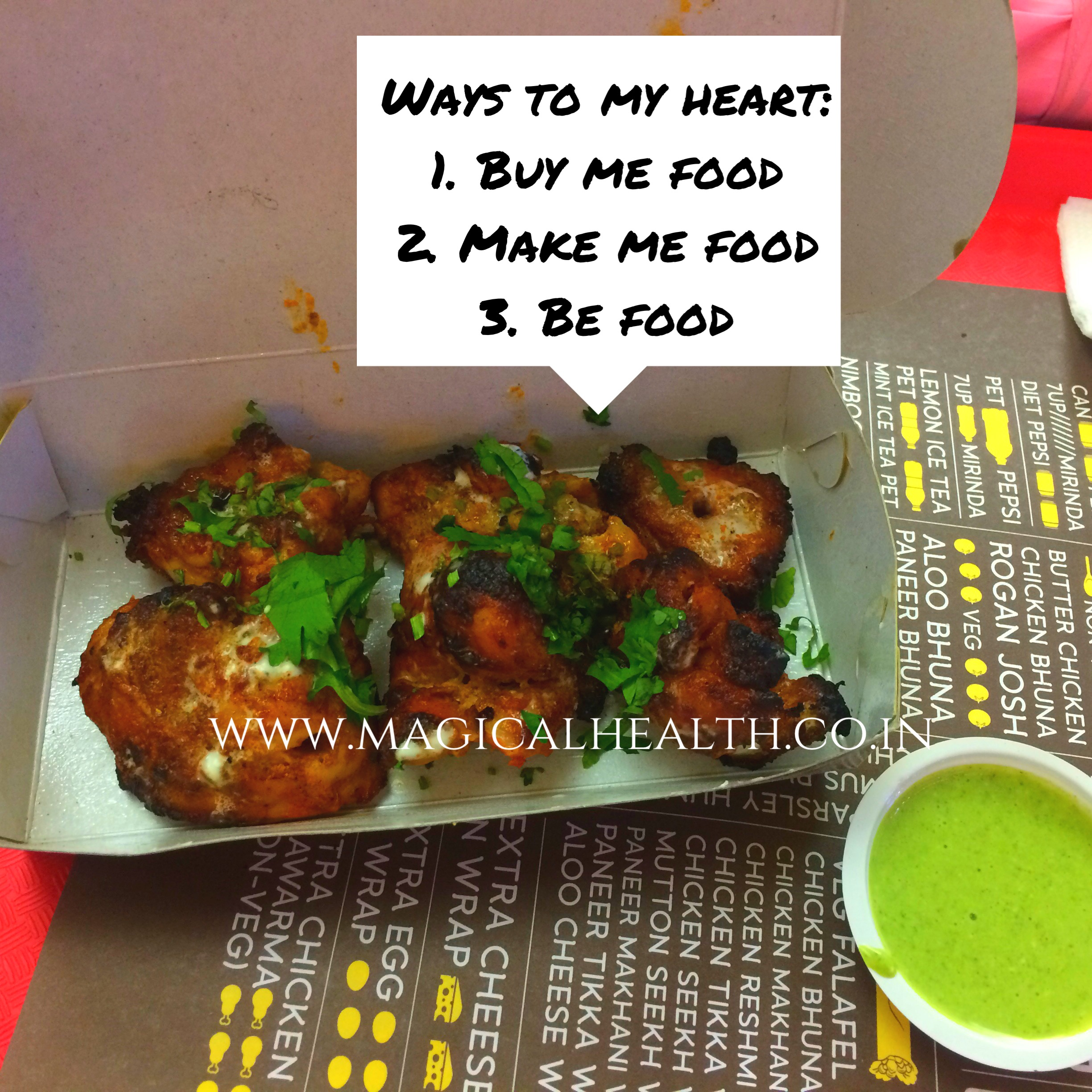 Munching and eating out options for weight loss- chicken tikka