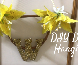 DIY Door Hanging/ Toran Making on Diwali 2018