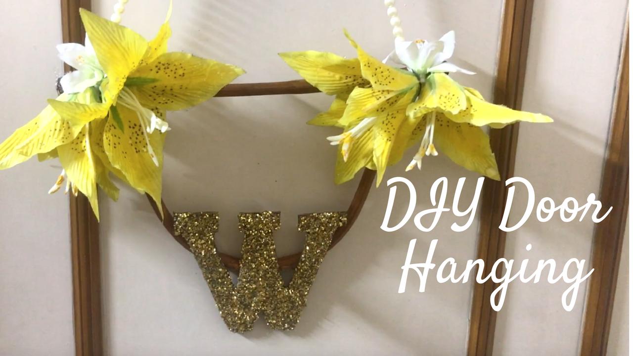 DIY Door Hanging/ Toran Making on Diwali 2018